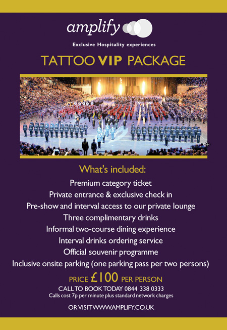 Special VIP package for Birmingham Tattoo at Barclaycard Arena